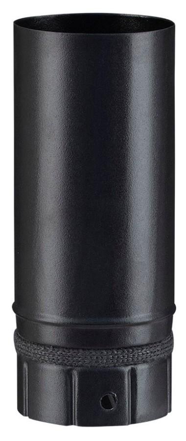 Elt droit noir mat 250 mm - poêle a granule - Poujoulat