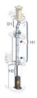 Conduit de cheminée double paroi - Kit intérieur avec sortie de toit - Poujoulat inox-galva - Ø150mm