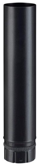 Élément droit noir mat 500 mm pour poêle a granulés - Poujoulat