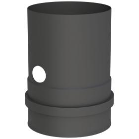 Conduit poêle à granule - Adaptateur pour chaudiere avec double manchon fileté et élément de mesure - noir - Tecnovis Pellet-Line