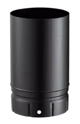 Tuyau émaillée noir mat 250 mm pour poêle a bois - Poujoulat