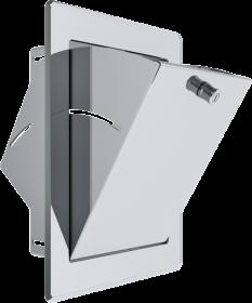 Porte d'entrée escamotable avec serrure- 340 x 450mm - Système chute à linge