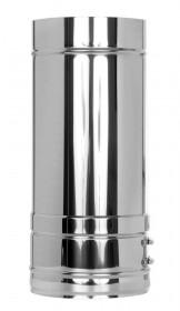Elément droit inox 500mm - double paroi - TEC-DW-FU
