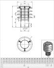 Lamellenaufsatz-Hubo1e-Edelstahl