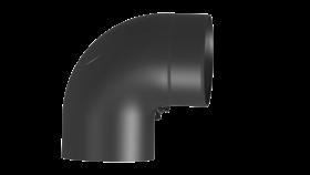 Coude 90° noir avec trappe de visite - conduit poêle à bois - 150mm - TEC-FR