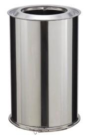 Elément droit - 450 mm - double paroi - inox-inox - Poujoulat