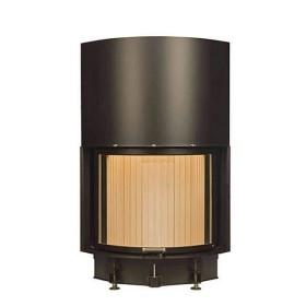 Insert bois BRUNNER Compacte 57/67 – 11kW avec porte escamotable et vitre courbé