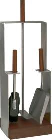 Serviteur de cheminée en acier inoxydable, 3 accessoires- Lienbacher