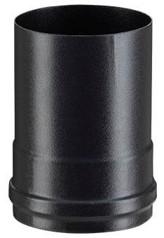 Adaptateur noir mat 80F/80F - poêle a granule - Poujoulat