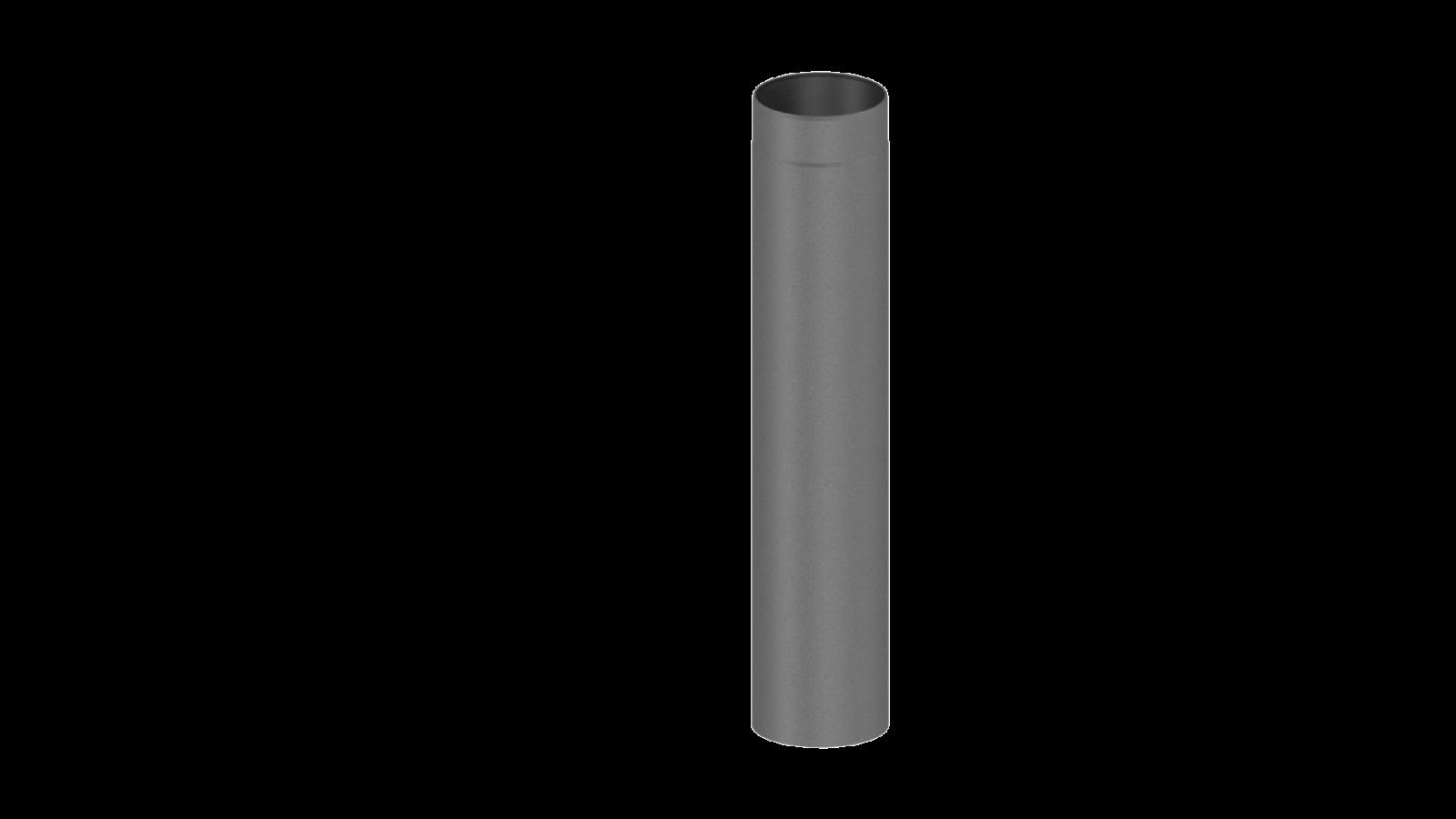 element droit 750mm gris conduit po le bois double paroi tec fr isoline chemineeo. Black Bedroom Furniture Sets. Home Design Ideas