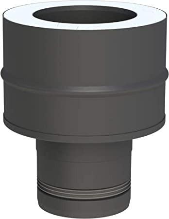 Conduit poêle à granule - Adaptateur pellet Line à double paroi DW-FU - noir - Tecnovis Pellet-Line