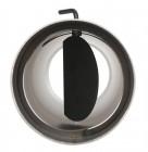 Ofenrohr FERRO1416 - Winkelrohr schwarz mit Wandrosette, Tür, Drosselklappe  und Wandfutter