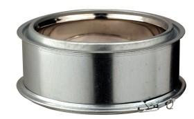 Elément droit - 100 mm - isolé - inox-galva - Poujoulat
