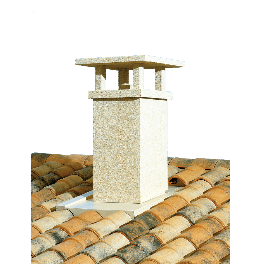 Sortie de toit tradinov poujoulat 150 mm chapeau de for Chapeau pour cheminee exterieur