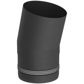 Conduit poêle à granule - Coude fixe 15° - noir - Tecnovis Pellet-Line