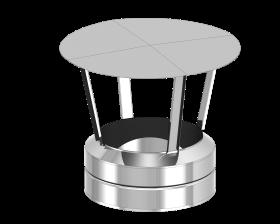 Chapeau de cheminée inox avec embout de finition - TEC-DW-STANDARD
