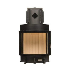 Insert bois BRUNNER Compacte 57/67 – 11kW avec porte pivotante et vitre courbé