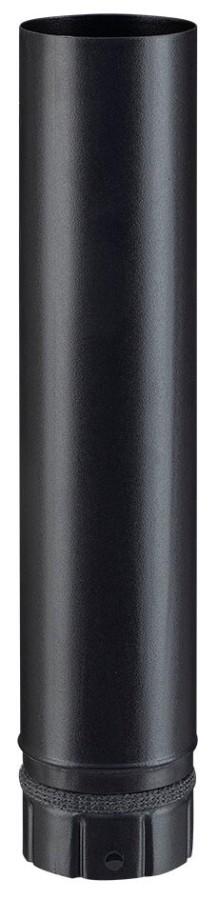 Elt droit noir mat 500 mm - poêle a granule - Poujoulat