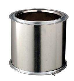 Elément droit - 250 mm - isolé - inox-galva - Poujoulat