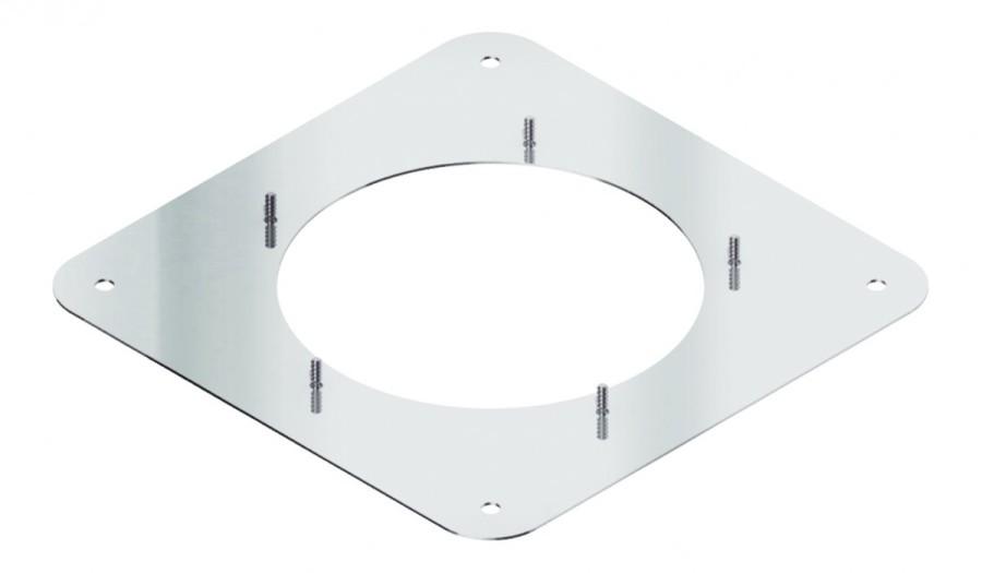 Quadratische Schraubplatte für Rauchsauger Diajekt (S)