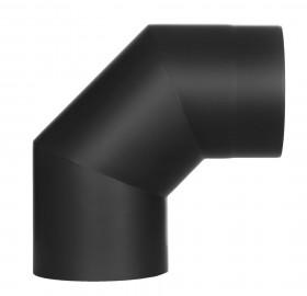 Coude fixe 90° - double paroi - noir – TEC-FR-ISOLINE
