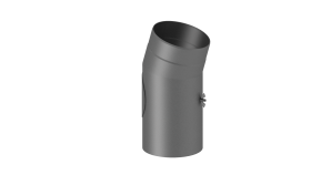 Coude fixe 15° - double paroi - avec trappe d'entretien - gris - TEC-FR-ISOLINE