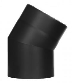 Coude fixe 30° - double paroi - noir – TEC-FR-ISOLINE
