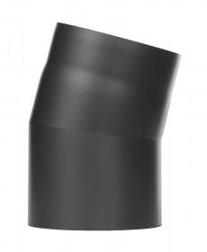 Coude fixe 15° - noir- conduit poêle à bois - TEC-FR