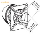 Extracteur de fumée électrique Exodraft RS - extraction horizontale