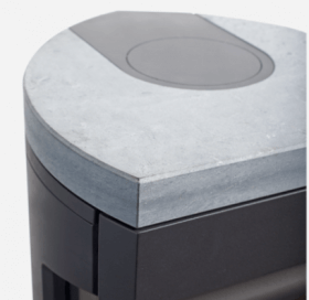 Jotul - plaque de recouvrement en pierre ollaire, y compris couvercle pour sortie arrière noir