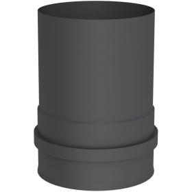 Conduit poêle à granule - Adaptateur pour chaudiere avec double manchon fileté - noir - Tecnovis Pellet-Line