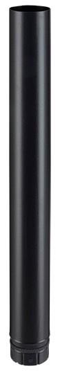 Elt droit noir mat 1000 mm - poêle a granule - Poujoulat