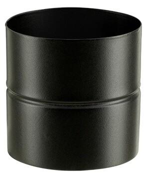 Adaptateur émaillé noir mat F/F pour poêle a bois - Poujoulat