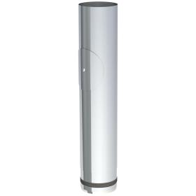 Conduit poêle à granule - Elément droit 500mm avec ouverture d'entretien - non peint - Tecnovis Pellet-Line