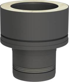 Conduit poêle à granule - Adaptateur Pellet-Line à double paroi DW-STANDARD - noir - Tecnovis Pellet-Line