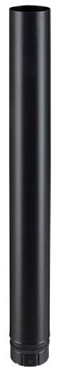 Elément droit noir mat 1000 mm pour poêle à granulés - Poujoulat