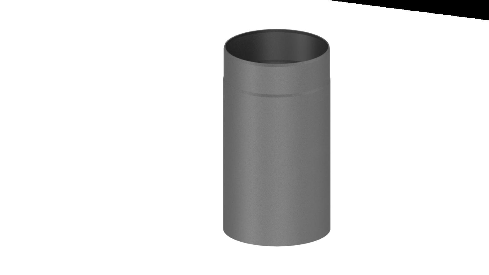 el ment droit 330mm gris conduit po le bois double paroi tec fr isoline chemineeo. Black Bedroom Furniture Sets. Home Design Ideas
