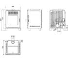Pelletofen MCZ CUTE Air 8kW - Verkleidung schwarz
