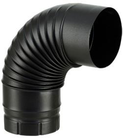 Coude émaillé noir mat 90° pour poêle a bois - Poujoulat