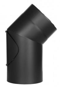 Coude fixe 15° - double paroi - avec trappe d'entretien - noir – TEC-FR-ISOLINE