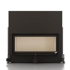 Insert bois BRUNNER ARCHITECTURE 38/86 - 10kW avec porte relevable et vitre plate
