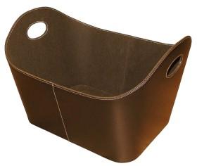 Porte bûches en simili-cuir marron - Lienbacher