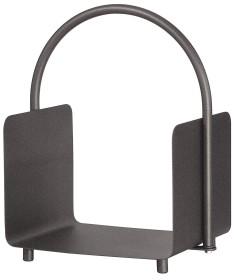 Porte-bûches anthracite, hauteur 49 cm - Lienbacher accessoires de cheminée