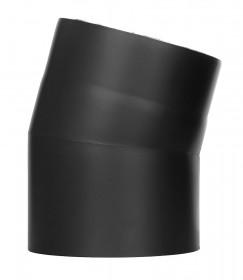 Coude fixe 15° - double paroi - noir – TEC-FR-ISOLINE