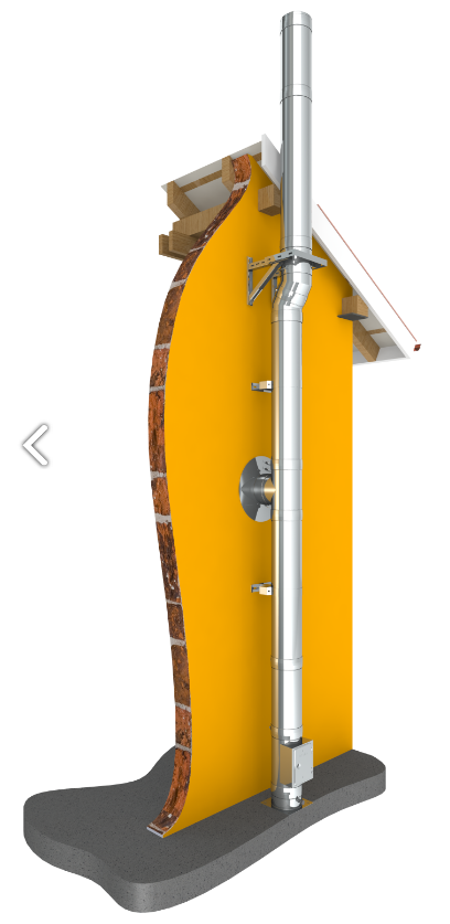 conduit de chemin 233 e inox paroi kit ext 233 rieur tec dw standard 216 200mm chemineeo