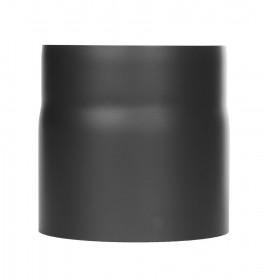 Elément droit 150mm avec anneau de purge - noir - Conduit poêle à bois TEC-FR