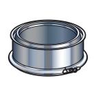 Elément droit - 100 mm - double paroi - inox-inox - Poujoulat