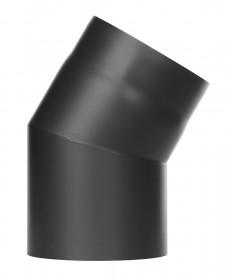Coude 30° - conduit poêle à bois simple paroi - noir mat - TEC-FR