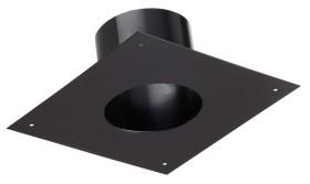 Plaque finition tubage 25x25 - noir - RAL 9019 - raccordement émaillée - Poujoulat