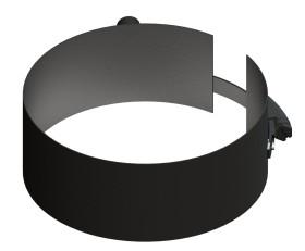Conduit poêle à granule - Collier de fixation + manchon fileté noir - Tecnovis Pellet-Line